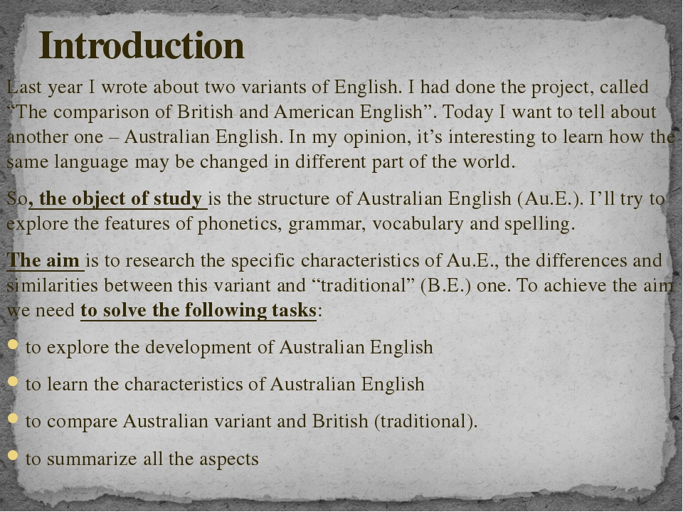 Last year I wrote about two variants of English. I had done the project, call...