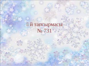Үй тапсырмасы № 731