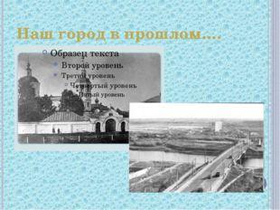 Наш город в прошлом….