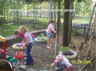 - Благоустройство школьного двора
