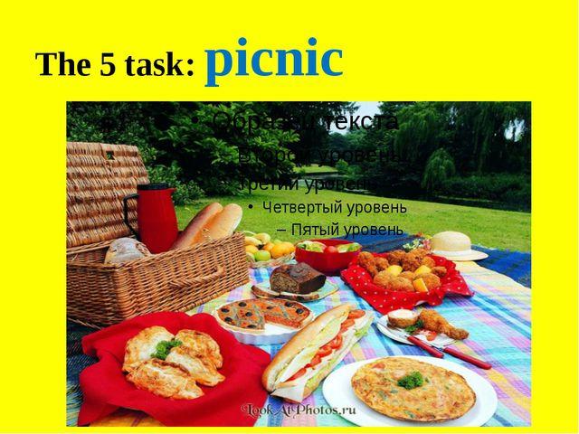 The 5 task: picnic