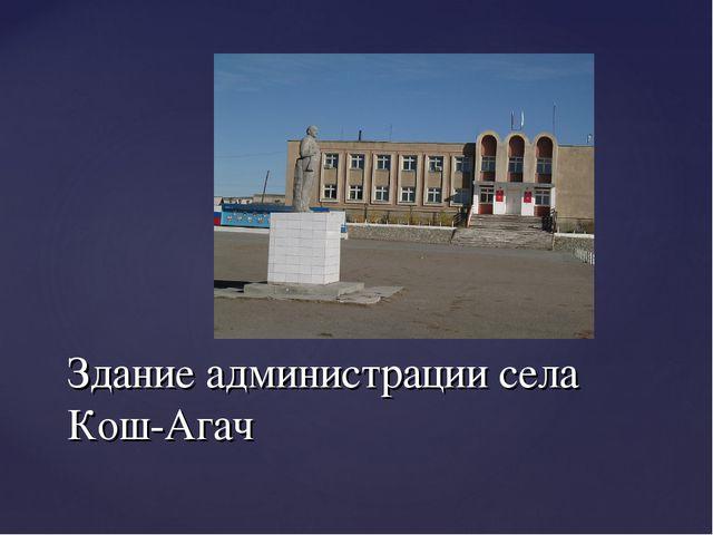 Здание администрации села Кош-Агач