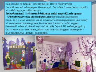Қазір біздің бөбекжай - бақшаның көптеген педагогтары Воскобовичтың ойындарын
