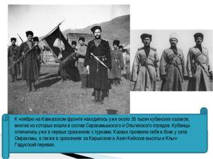 К ноябрю на Кавказском фронте находилось уже около 35 тысяч кубанских казако