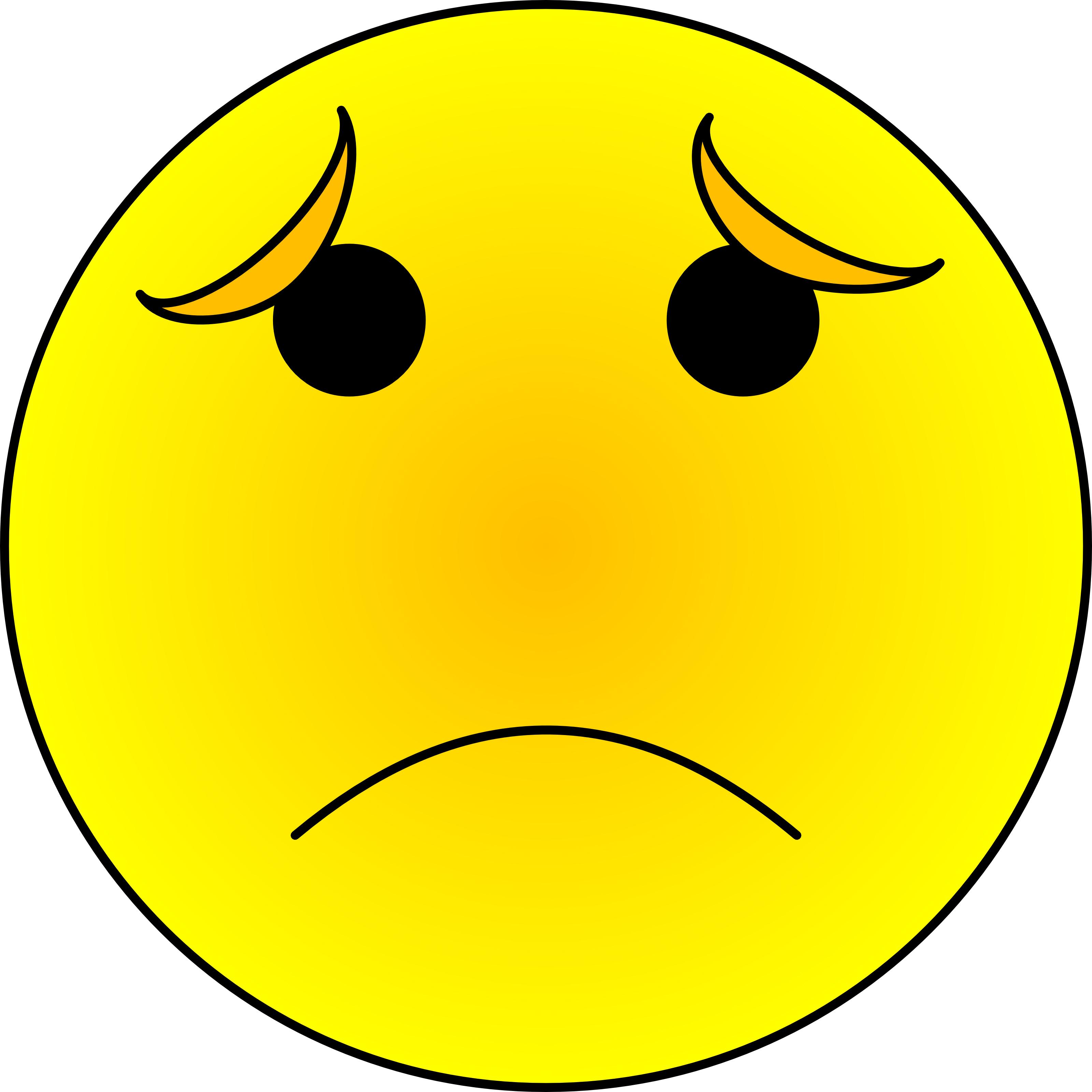 Картинка смайлика грустного на прозрачном фоне