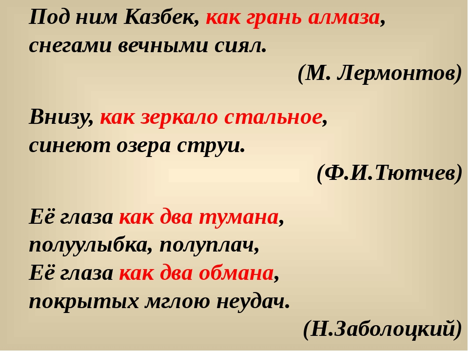 Под ним Казбек, как грань алмаза, снегами вечными сиял. (М. Лермонтов) Внизу,...