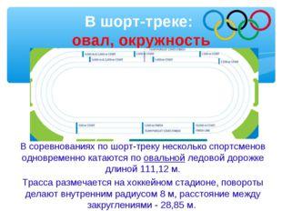 В шорт-треке: овал, окружность В соревнованиях по шорт-треку несколько спортс