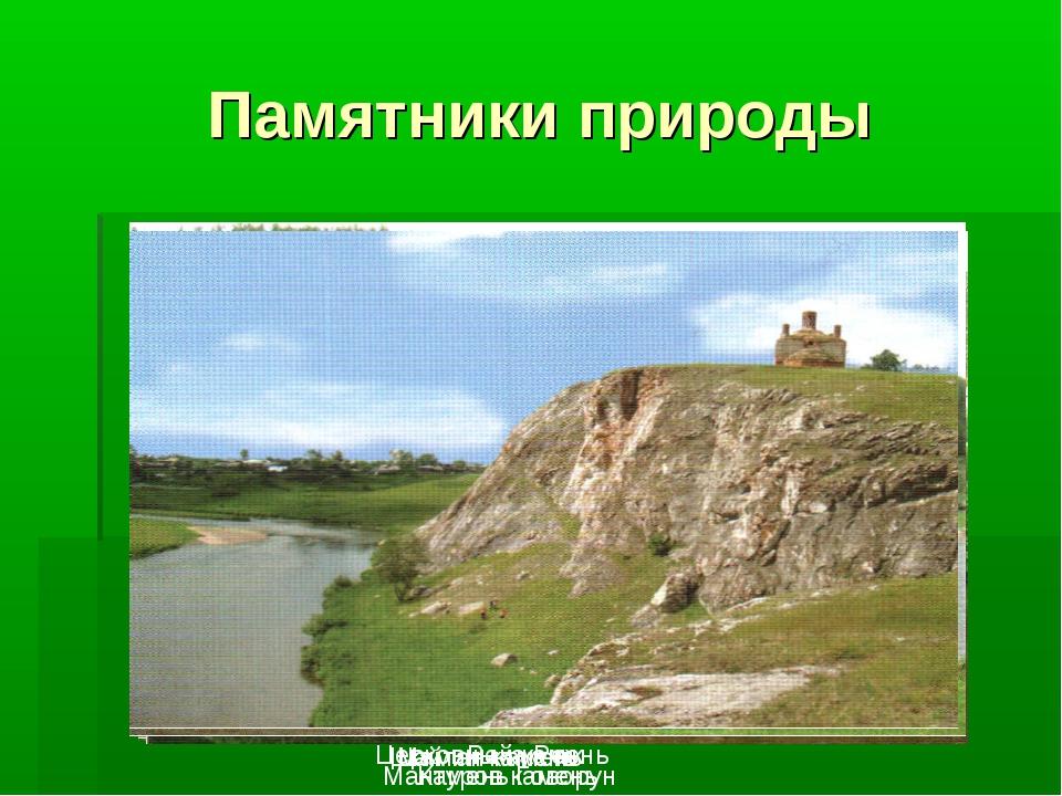 Памятники природы Река Реж Мамин камень Шайтан-камень Мантуров камень Камень...