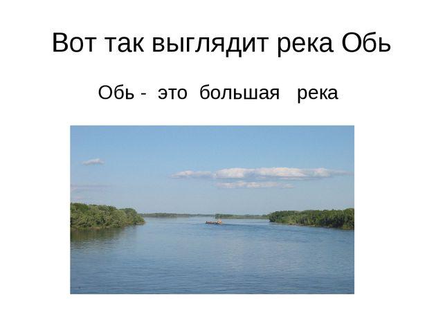 Вот так выглядит река Обь Обь - это большая река
