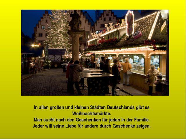 In allen großen und kleinen Städten Deutschlands gibt es Weihnachtsmärkte. Ma...