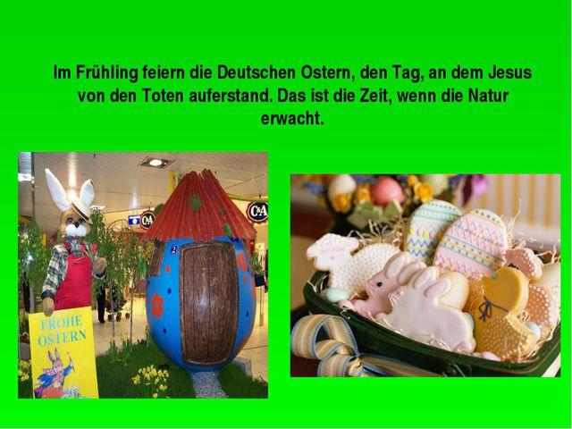 Im Frühling feiern die Deutschen Ostern, den Tag, an dem Jesus von den Toten...