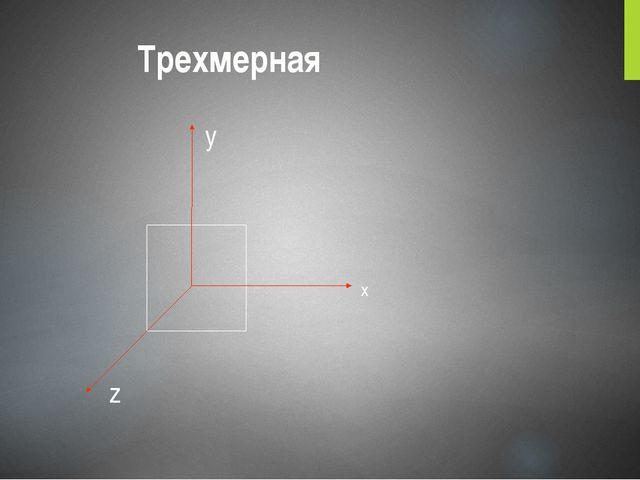 Трехмерная x y z