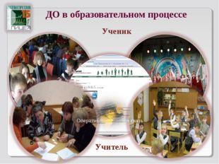 ДО в образовательном процессе  Ученик Учитель