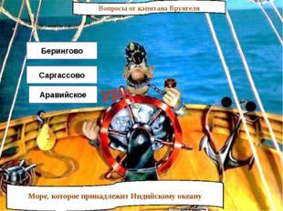 Вопросы от капитана Врунгеля Море, которое принадлежит Индийскому океану Бери