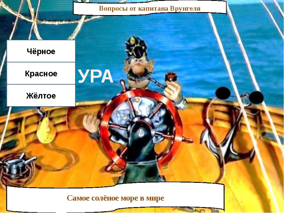 Вопросы от капитана Врунгеля Самое солёное море в мире Чёрное Красное Жёлтое...
