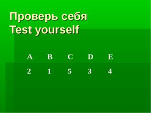 Проверь себя Test yourself ABCDE 21534