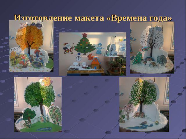 Изготовление макета «Времена года»