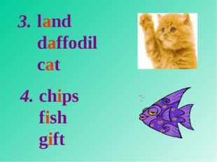 land daffodil cat chips fish gift 3. 4.