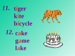 tiger kite bicycle cake game lake 11. 12.