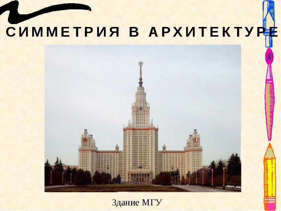 СИММЕТРИЯ В АРХИТЕКТУРЕ Здание МГУ