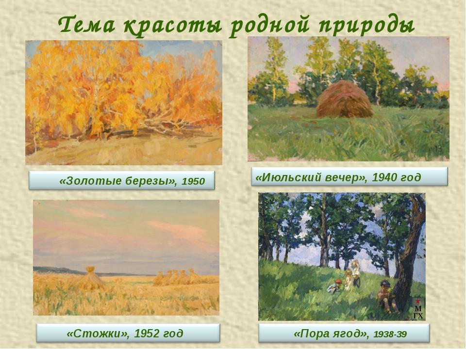 Тема красоты родной природы
