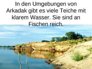 In den Umgebungen von Arkadak gibt es viele Teiche mit klarem Wasser. Sie sin