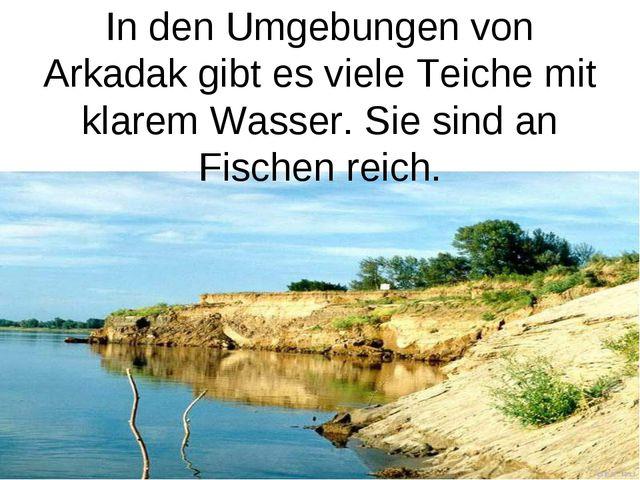 In den Umgebungen von Arkadak gibt es viele Teiche mit klarem Wasser. Sie sin...