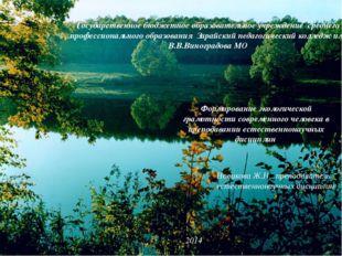 Формирование экологической грамотности современного человека в преподавании