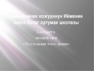 Чоон-Хемчик кожууннун Ийменин ниити билиг ортумак школазы Тоолдарга моорей-ою
