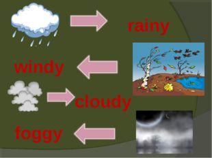 rainy windy cloudy foggy
