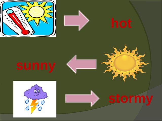 hot sunny stormy