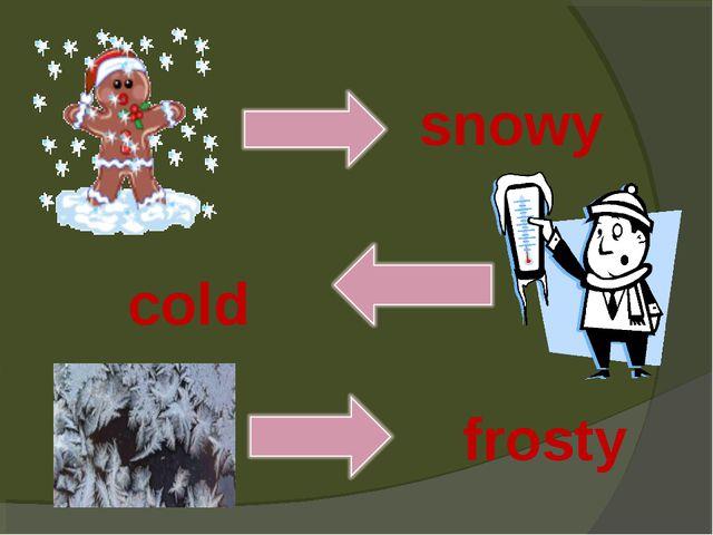 snowy cold frosty