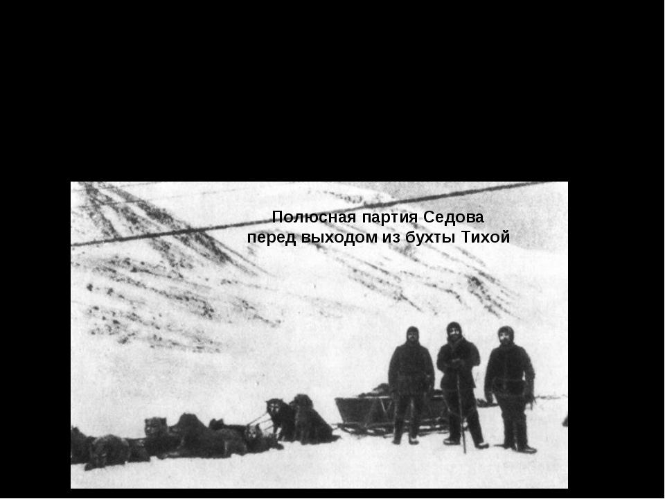 15 февраля 1914 г. Г. Я. Седов из бухты Тихой отправился в поход к Северному...