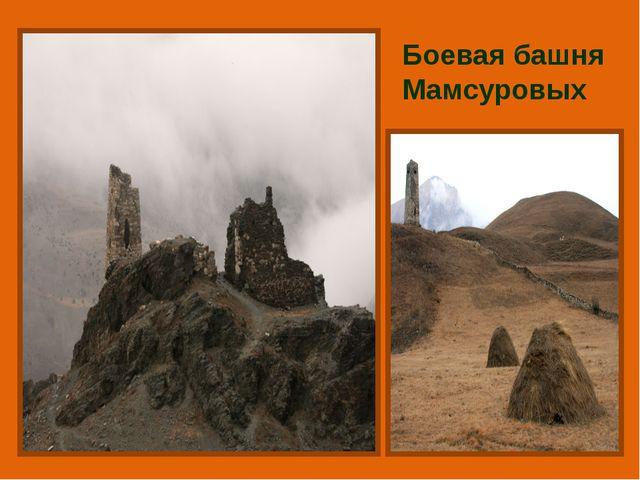 Боевая башня Мамсуровых