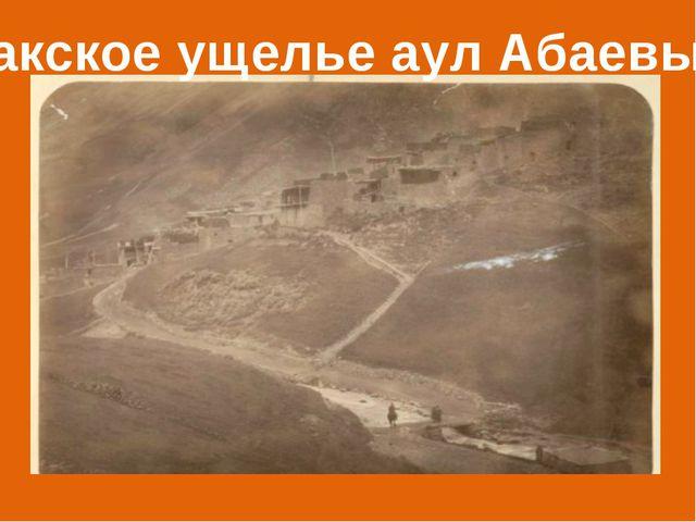 Закское ущелье аул Абаевых