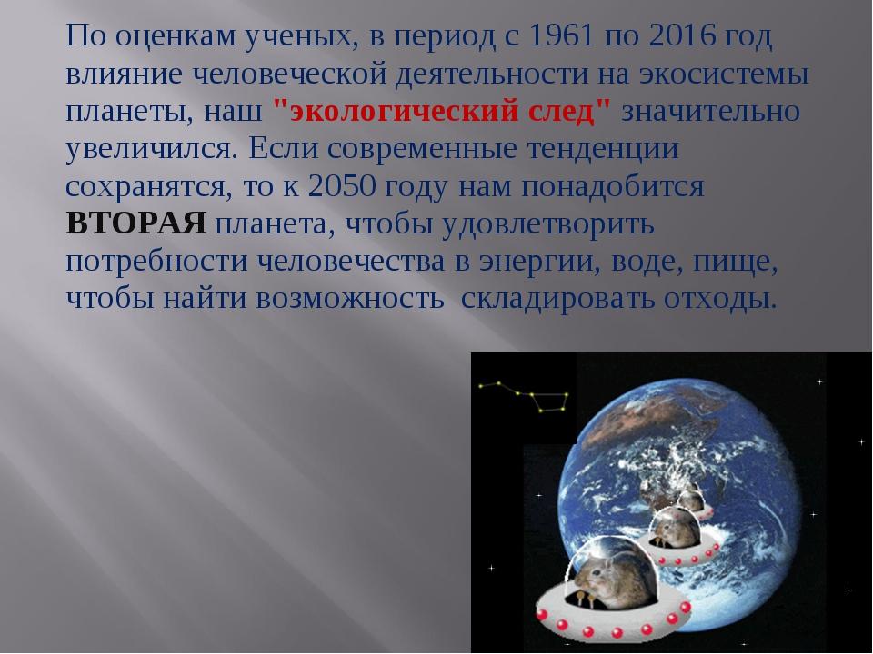 По оценкам ученых, в период с 1961 по 2016 год влияние человеческой деятельно...