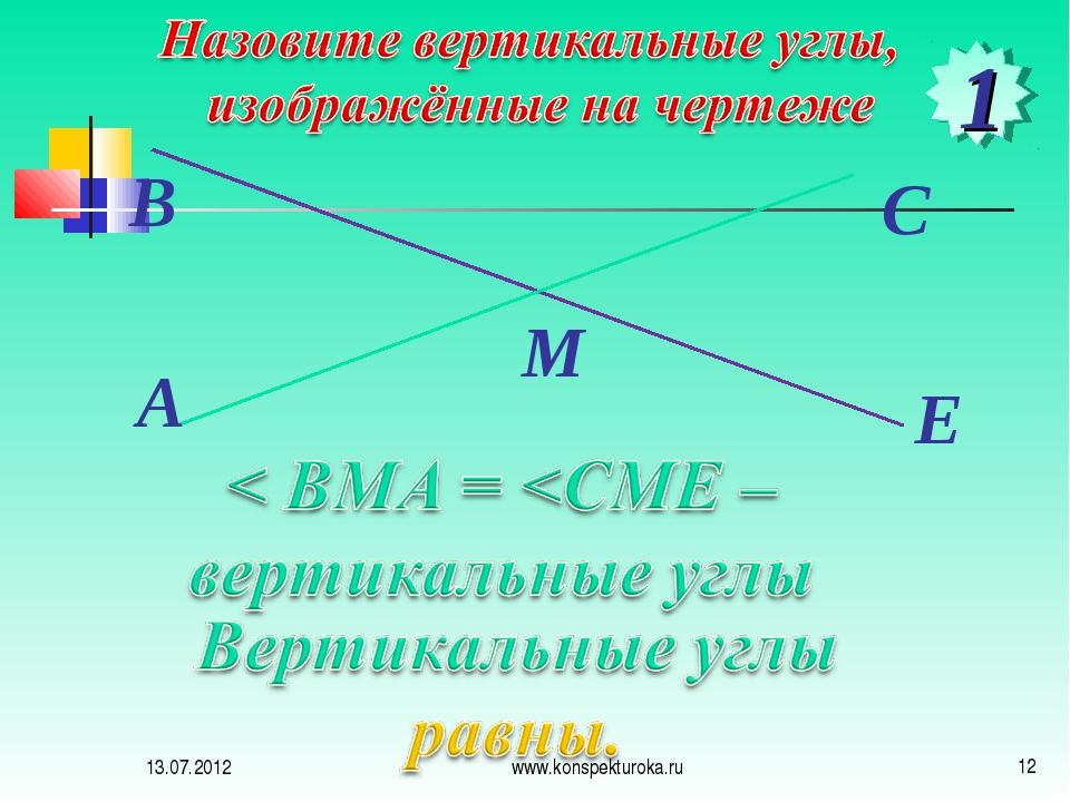 1 13.07.2012 * www.konspekturoka.ru www.konspekturoka.ru
