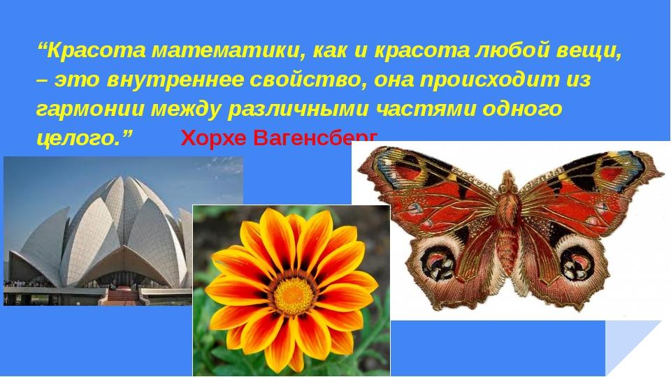 """""""Красота математики, как и красота любой вещи, – это внутреннее свойство, он..."""