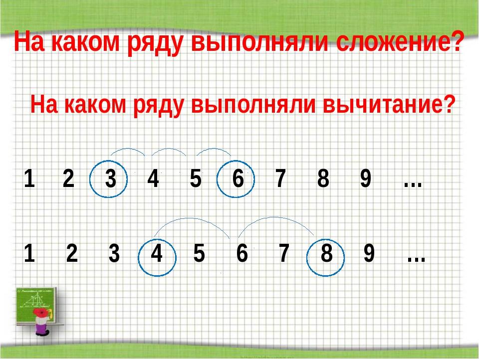 На каком ряду выполняли сложение? На каком ряду выполняли вычитание? 2 3 4 5...
