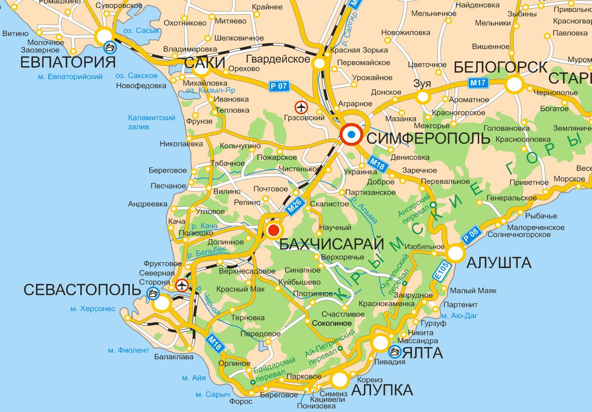 Отдых в Крыму Феодосия Приморский - Бахчисарай