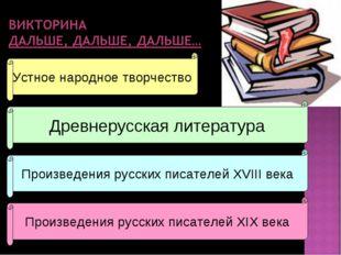 Устное народное творчество Древнерусская литература Произведения русских писа
