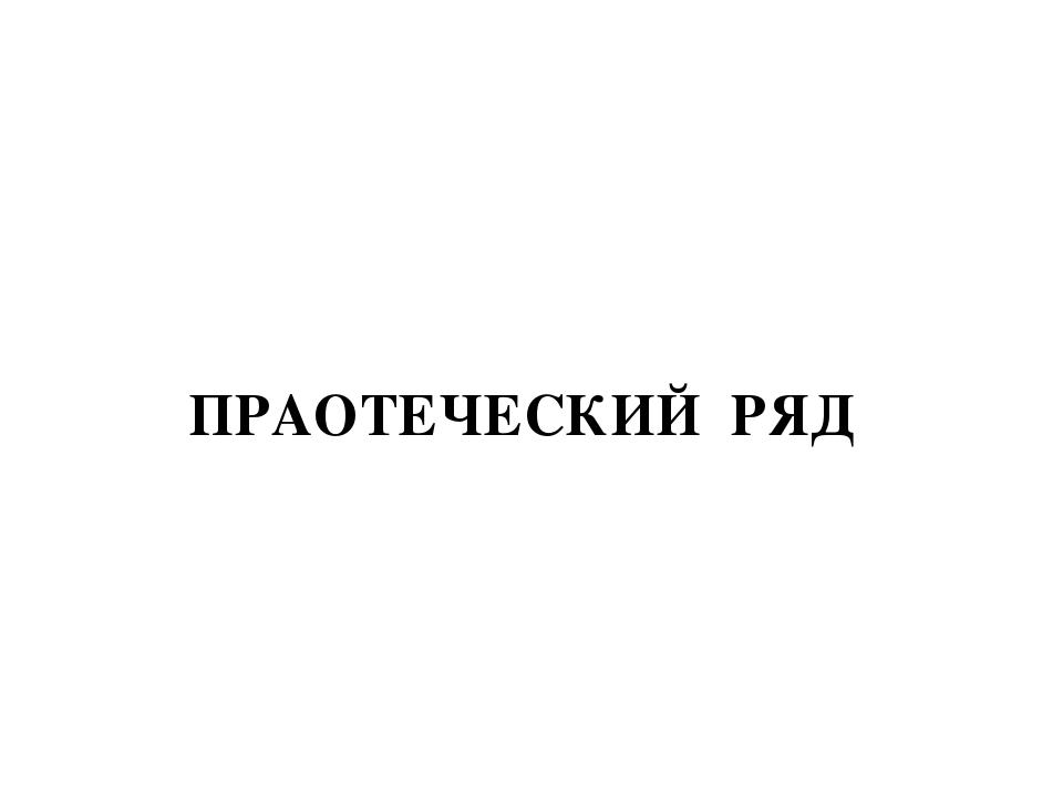 ПРАОТЕЧЕСКИЙ РЯД