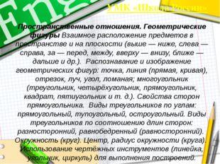 УМК «Школа России» Пространственные отношения. Геометрические фигуры Взаимное