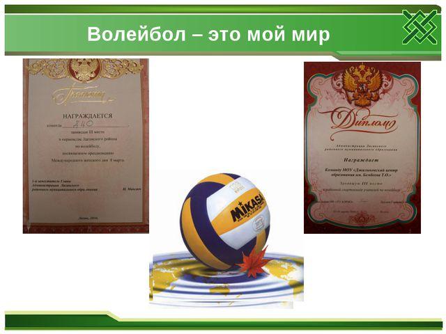 Волейбол – это мой мир