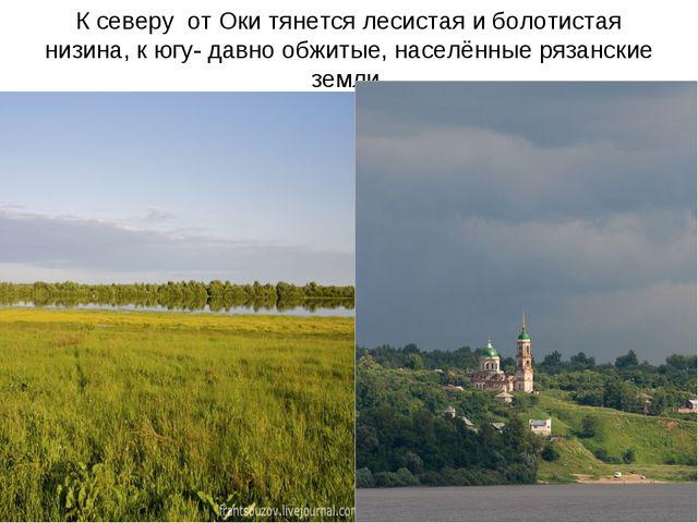 К северу от Оки тянется лесистая и болотистая низина, к югу- давно обжитые, н...