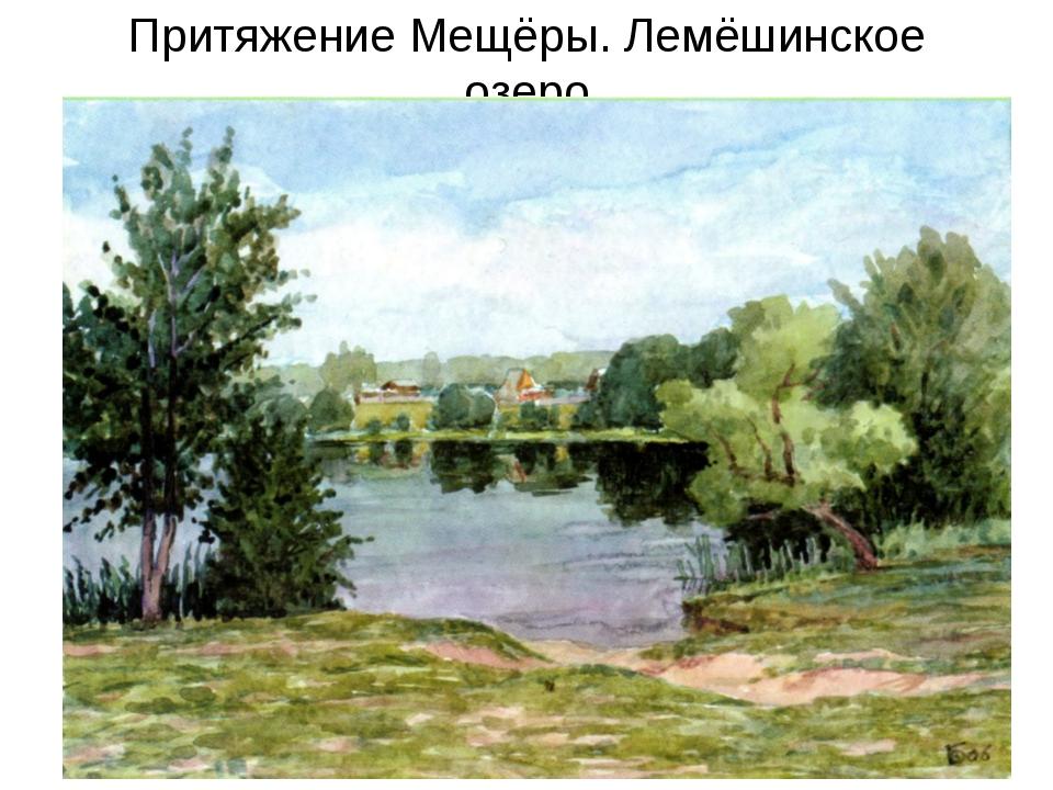 Притяжение Мещёры. Лемёшинское озеро