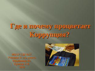 МБОУ СШ №17 Ученики 11 «А» класса Щербинина Ю. Еремеев А.В. 2015 Где и почему