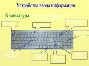 - устройство для ввода числовой и текстовой информации. Функциональные (12 кл