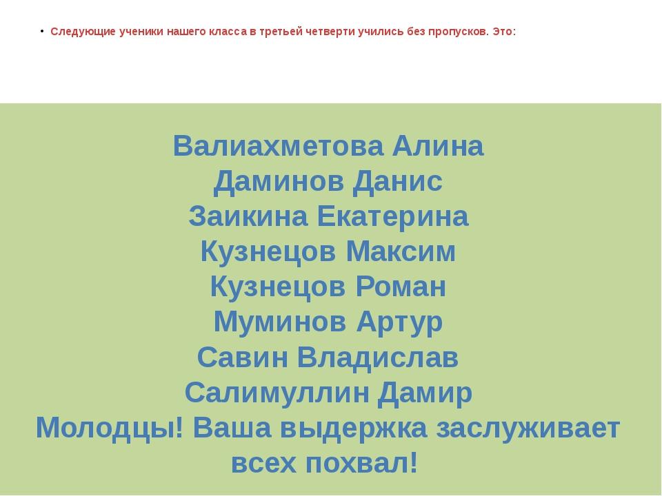 Валиахметова Алина Даминов Данис Заикина Екатерина Кузнецов Максим Кузнецов Р...