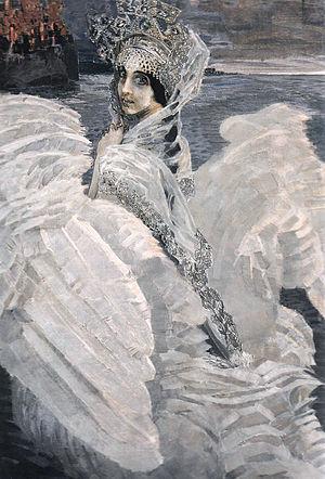 Tsarevna-Lebed by Mikhail Vrubel (brightened).jpg